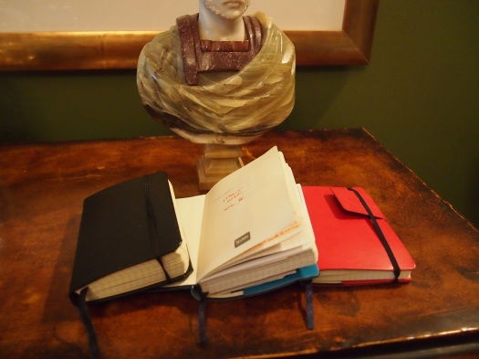 Variety of Journals Kept While in Rome, 2012