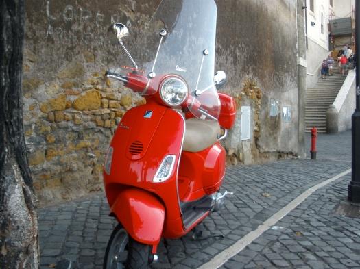 Dragon Red parked along Viale della Trinita del Monti