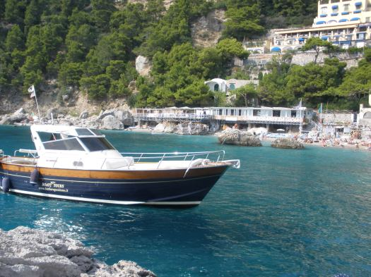 Boating from Positano to Capri
