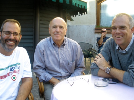 Joe, Gerry, and Jochen at Cafe Farnese