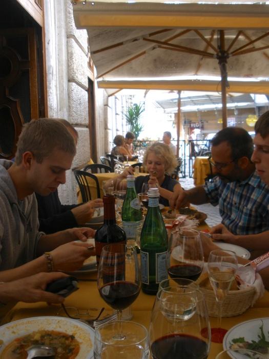 Kersten Family at Ristorante Da Pancrazio