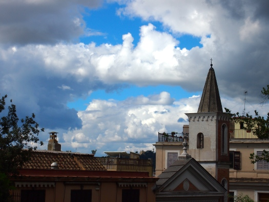View of Rome from Spanish Steps