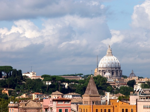 View of the Vatican from the Aventine Hill