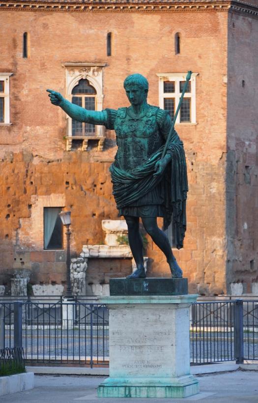Emperor Augustus, Via dei Fori Imperiali, Rome 2013
