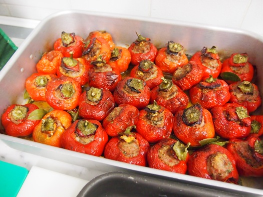 Stuffed Peppers, Cooking Classes in Rome, 2013