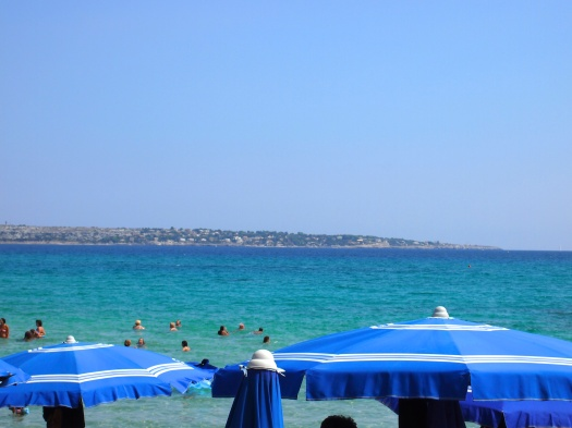 View of Syracuse from Aranella, Sicily, 2012