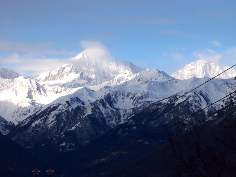 View of the Alps, Centovalli Railway, Domodosolla to Locarno