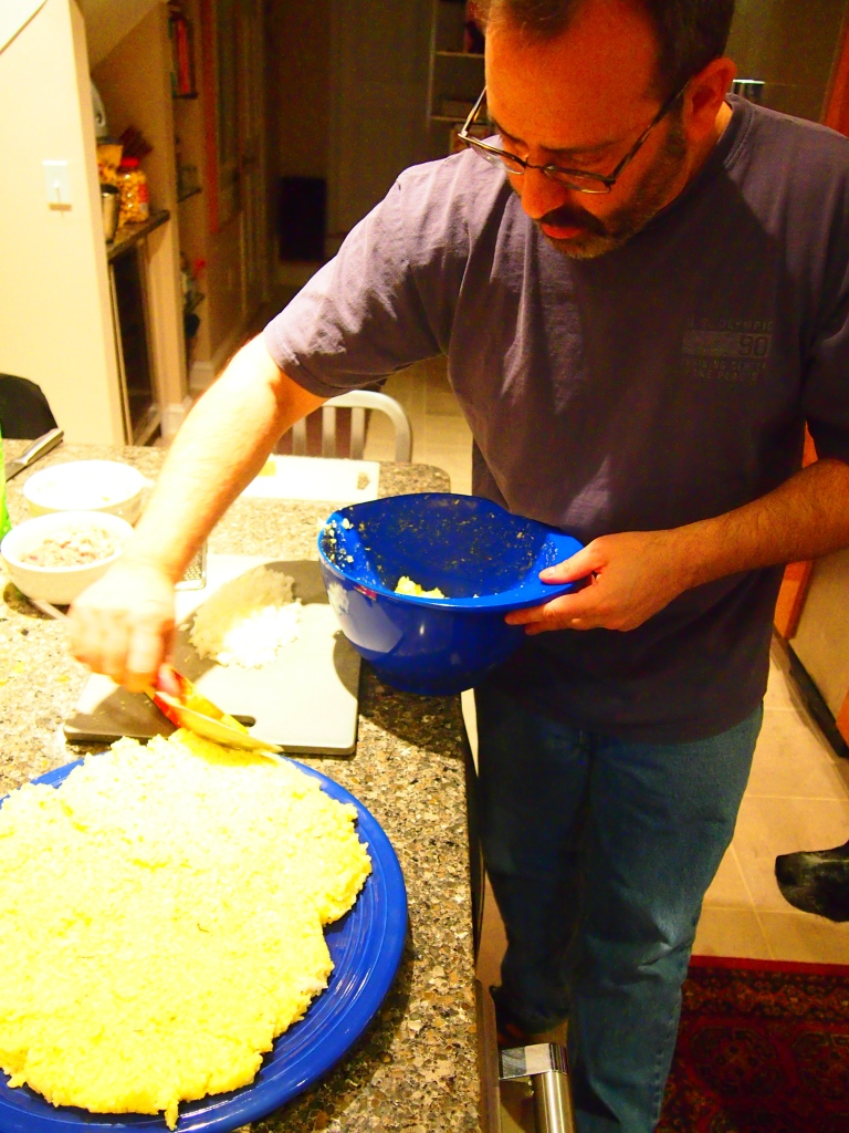 Joe cooling rice mixture, 2013