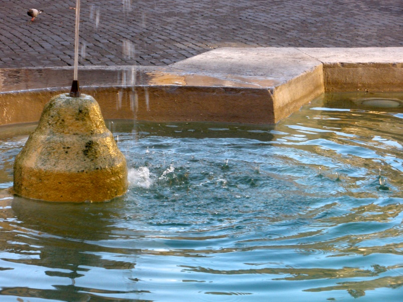 Detail, Fountain, Piazza Farnese, Rome