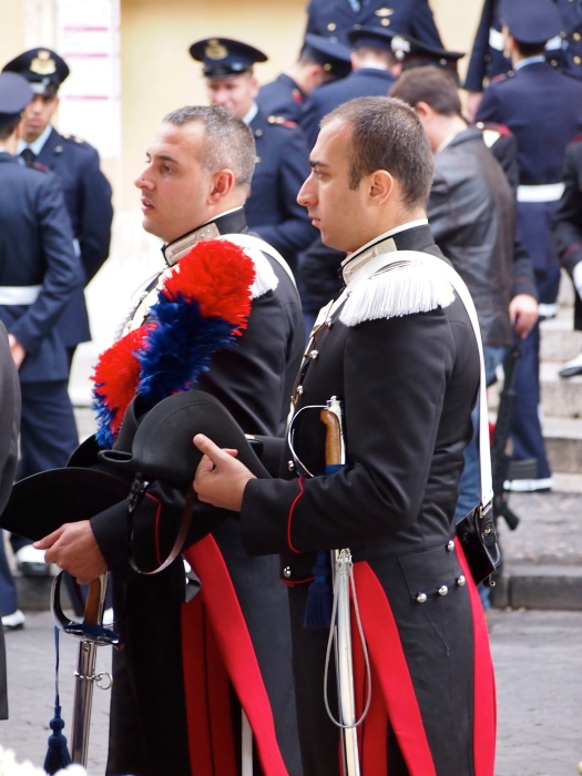 Preparing for Wreath Laying, Campidoglio, Rome